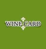 Κατάλογος επιλογής έννοιας καρτών κρασιού στην ειρήνη του εγγράφου Στοκ Εικόνα