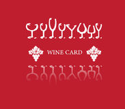Κατάλογος επιλογής έννοιας καρτών κρασιού στην ειρήνη του εγγράφου Στοκ Εικόνες