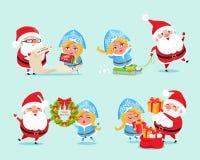 Κατάλογος καλής χρονιάς διανυσματικής απεικόνισης δώρων απεικόνιση αποθεμάτων