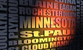 Κατάλογος κρατικών πόλεων Μινεσότας απεικόνιση αποθεμάτων