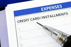κατάλογος πιστωτικών δόσ Στοκ Εικόνες