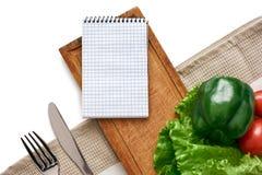 Κατάλογος προϊόντων για το αγαπημένο πιάτο Τα φρέσκα λαχανικά είναι στον πίνακα στοκ φωτογραφία με δικαίωμα ελεύθερης χρήσης