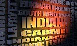 Κατάλογος πόλεων της Ιντιάνα ελεύθερη απεικόνιση δικαιώματος
