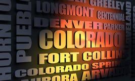 Κατάλογος πόλεων του Κολοράντο ελεύθερη απεικόνιση δικαιώματος