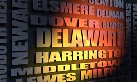 Κατάλογος πόλεων του Ντελαγουέρ ελεύθερη απεικόνιση δικαιώματος