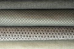 Κατάλογος του πολύχρωμου υφάσματος από matting το υπόβαθρο σύστασης υφάσματος, σύσταση υφάσματος μεταξιού, υπόβαθρο βιομηχανίας κ Στοκ φωτογραφία με δικαίωμα ελεύθερης χρήσης