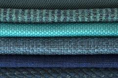 Κατάλογος του πολύχρωμου υφάσματος από matting το υπόβαθρο σύστασης υφάσματος, σύσταση υφάσματος μεταξιού, υπόβαθρο βιομηχανίας κ Στοκ Φωτογραφίες