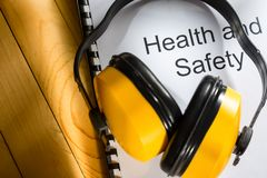 Κατάλογος υγείας και ασφαλείας Στοκ Εικόνες