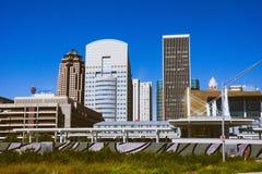 Κατάπληξη στο κέντρο της πόλης Des Moines στο κράτος της Αϊόβα στοκ εικόνα