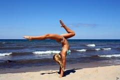 Κατάπληξη handstand Στοκ εικόνα με δικαίωμα ελεύθερης χρήσης