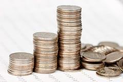 κατάρρευση νομισμάτων διαγραμμάτων Στοκ Φωτογραφία