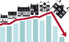 Κατάρρευση της στεγαστικής αγοράς διανυσματική απεικόνιση