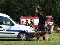 κατάρτιση αστυνομίας σκ&upsi Στοκ Εικόνα