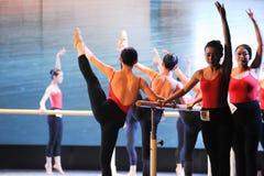 Κατάρτιση για το μπάρα-βασικό εκπαιδευτικό μάθημα χορού Στοκ Φωτογραφία
