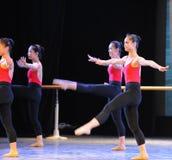 Κατάρτιση για το μπάρα-βασικό εκπαιδευτικό μάθημα χορού Στοκ εικόνα με δικαίωμα ελεύθερης χρήσης
