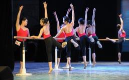 Κατάρτιση για το μπάρα-βασικό εκπαιδευτικό μάθημα χορού Στοκ Εικόνα