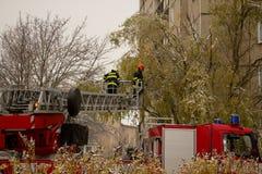 κατάρτιση εθελοντών πυροσβεστών εθελοντών πυροσβεστών ενέργειας Στοκ εικόνα με δικαίωμα ελεύθερης χρήσης