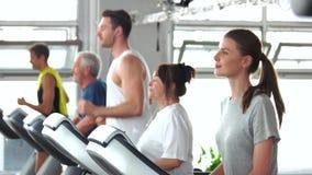Κατάρτιση ομάδας ανθρώπων treadmill φιλμ μικρού μήκους