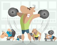 Κατάρτιση πέντε bodybuilders απεικόνιση αποθεμάτων