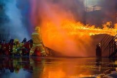 Κατάρτιση πυροσβέστη Στοκ εικόνα με δικαίωμα ελεύθερης χρήσης