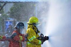 Κατάρτιση πυροσβέστη Στοκ Εικόνες