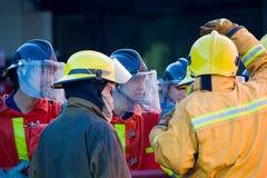 Κατάρτιση πυροσβέστη Στοκ φωτογραφίες με δικαίωμα ελεύθερης χρήσης