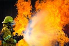 Κατάρτιση πυροσβέστη Στοκ Φωτογραφία