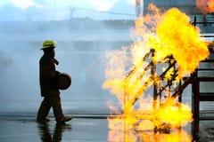 Κατάρτιση πυροσβέστη Στοκ εικόνες με δικαίωμα ελεύθερης χρήσης