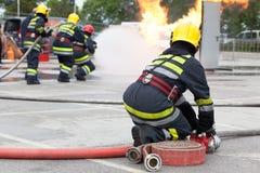 Κατάρτιση πυροσβεστικών υπηρεσιών Στοκ εικόνα με δικαίωμα ελεύθερης χρήσης