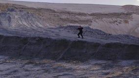 Κατάρτιση του μπόξερ στην αυγή απόθεμα βίντεο