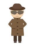 Κατάσκοπος - απομονωμένος χαρακτήρας ελεύθερη απεικόνιση δικαιώματος