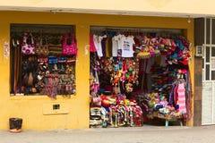 Κατάστημα αναμνηστικών σε Banos, Ισημερινός Στοκ Φωτογραφία