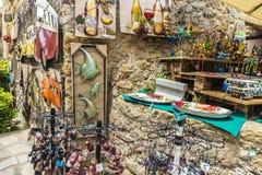 Κατάστημα αναμνηστικών στην Καταλωνία, Ισπανία Στοκ Εικόνες