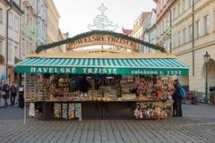Κατάστημα αναμνηστικών στη διάσημη αγορά Havels στην πρώτη εβδομάδα της εμφάνισης στα Χριστούγεννα στοκ φωτογραφία
