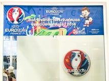Κατάστημα για τα προϊόντα του UEFA ευρο- Γαλλία του 2016 Στοκ εικόνες με δικαίωμα ελεύθερης χρήσης