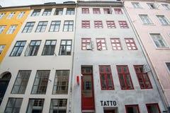 Κατάστημα δερματοστιξιών σε Nyhavn, Κοπεγχάγη Στοκ εικόνες με δικαίωμα ελεύθερης χρήσης