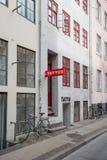 Κατάστημα δερματοστιξιών σε Nyhavn, Κοπεγχάγη Στοκ Εικόνα