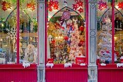 κατάστημα δώρων Χριστουγέ& Στοκ Εικόνες