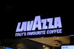 Κατάστημα καφέ Lavazza Στοκ φωτογραφία με δικαίωμα ελεύθερης χρήσης