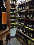 Κατάστημα κρασιού στοκ εικόνες