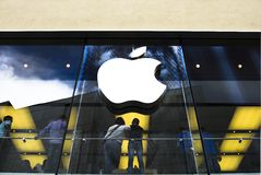 κατάστημα μήλων Στοκ εικόνες με δικαίωμα ελεύθερης χρήσης