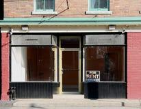κατάστημα μισθώματος κενό Στοκ Φωτογραφία