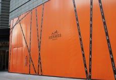 Κατάστημα μόδας της Hermes στην Κίνα Στοκ φωτογραφίες με δικαίωμα ελεύθερης χρήσης