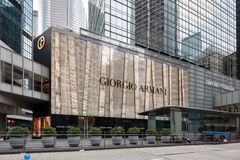 Κατάστημα μόδας του Giorgio Armani στο Χονγκ Κονγκ Στοκ Φωτογραφία