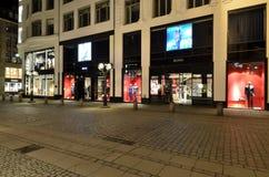 Κατάστημα πολυτέλειας της Hugo Boss στο Αμβούργο, Γερμανία Στοκ Φωτογραφίες