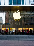 Κατάστημα της Apple, Σαγκάη, Κίνα 1 Στοκ φωτογραφία με δικαίωμα ελεύθερης χρήσης