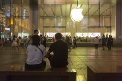 Κατάστημα της Apple στη Σαγκάη, Κίνα Στοκ φωτογραφίες με δικαίωμα ελεύθερης χρήσης