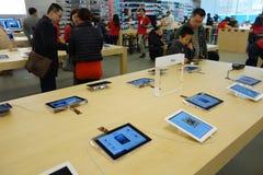 Κατάστημα της Apple στο εσωτερικό Chengdu Στοκ φωτογραφία με δικαίωμα ελεύθερης χρήσης