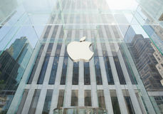 Κατάστημα της Apple στο Μανχάταν, NYC Στοκ φωτογραφίες με δικαίωμα ελεύθερης χρήσης
