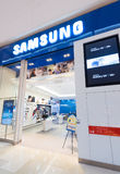 Κατάστημα της Samsung στη λεωφόρο περίπτερων, Κουάλα Λουμπούρ Στοκ εικόνα με δικαίωμα ελεύθερης χρήσης